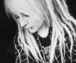alternative, dreads, and make up image