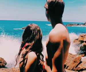 couple, adventure, and beach image