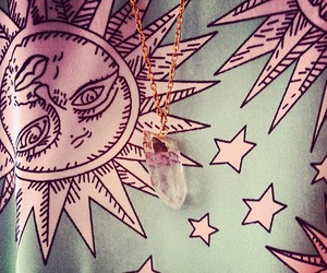 sun, stars, and necklace image