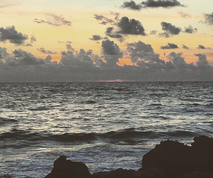 background, beach, and sunset image