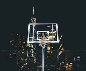 Basketball and night image