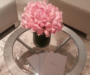 flowers, dior, and pink image