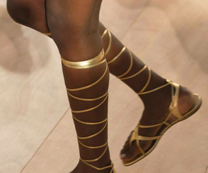 runway, shoes, and Valentino image
