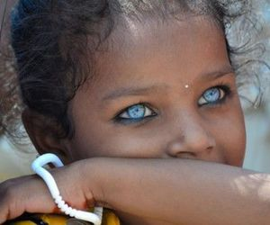 eyes, beautiful, and blue image