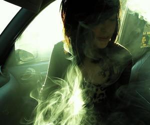girl, smoke, and piercing image