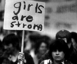 girl, strong, and woman image
