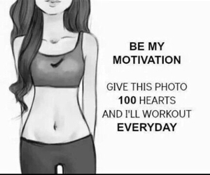 motivation, workout, and fit image
