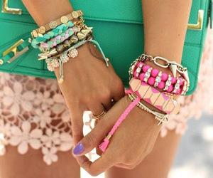 fashion, bracelet, and pink image