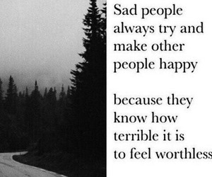 people, worthless, and sad image