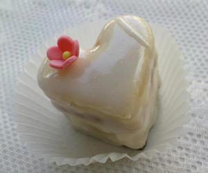 cake, heart, and yummy image