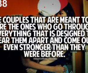 love, couple, and quote image
