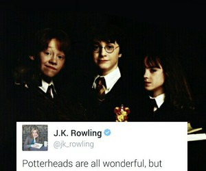harry potter, jk rowling, and tweet image