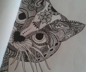 cat, drawing, and life image