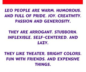 Leo, signs, and zodiac image