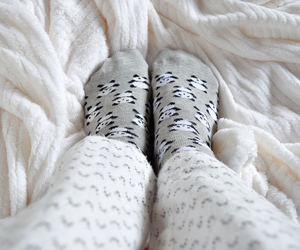 bed, cozy, and panda image