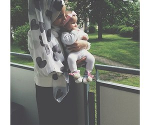 happy, hijab, and mom image