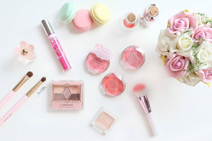 makeup, pink, and canmake image