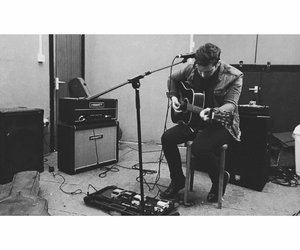 acoustic, british, and black and white image