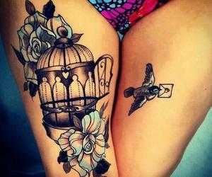 tattoo, bird, and beautiful image
