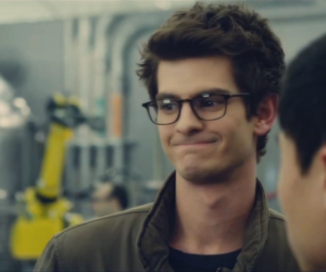 peter parker, spidey, and andrew garfield image