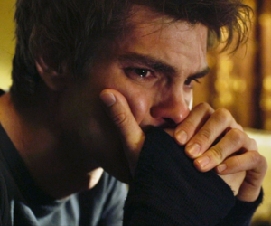 sad, spider-man, and andrew garfield image