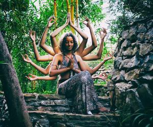 Buddha, girl, and hinduism image