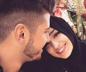 couple, love, and hijab image