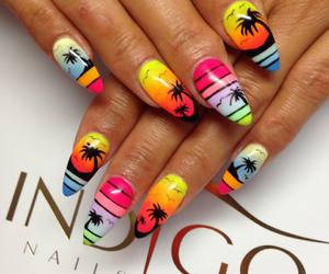 beach, cute nails, and girly image