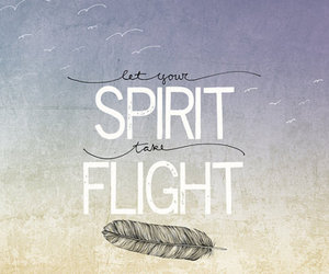 quote, spirit, and flight image