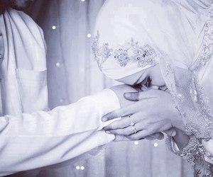 wedding, muslim, and hijab image