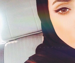 eye, hijab, and make-up image