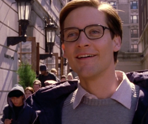 smile, spider-man, and Tobey Maguire image