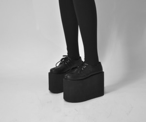 creepers, shoes, and black image