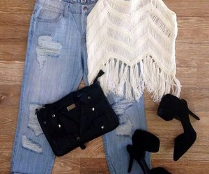 bags, jeans, and clothes image