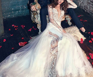 Couture, dress, and wedding image