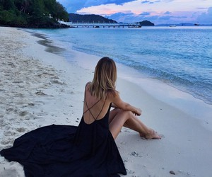beach, dress, and summer image