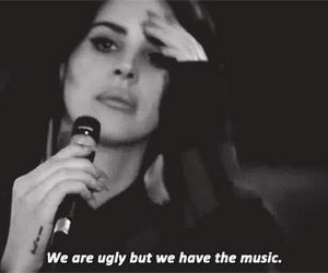 music, ugly, and lana del rey image