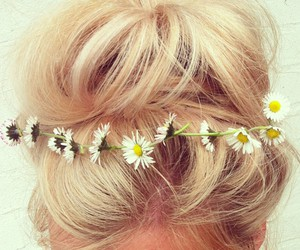 blonde, daisy, and flower image