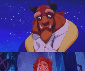 cartoon, prince, and princess image