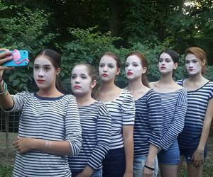 faces, painted, and pantomime image