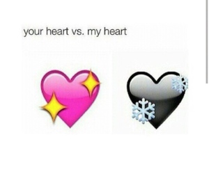 cold, heart, and black image