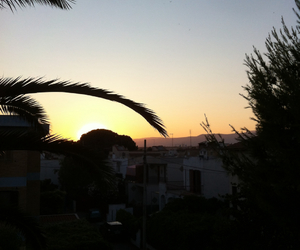 landscape, sunset, and sun image