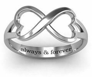 heart, infinity, and ring image