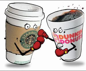 starbucks and dunkin donuts image