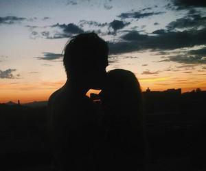 cool, couple, and kiss image