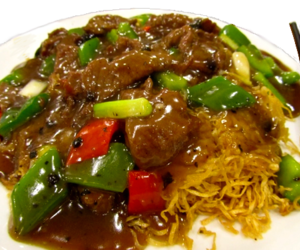 beef, chinese, and food image