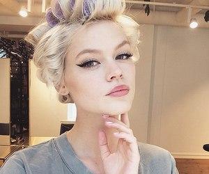 beauty, lips, and bonde image