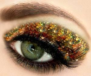 eye, make up, and eyes image