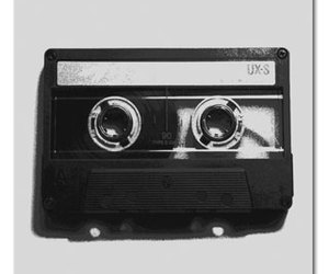 black and white, mix tape, and pop punk image