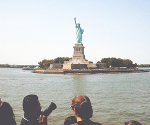 new york, statue of liberty, and nyc image